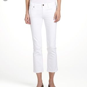 NWT Tory Burch White Cropped Slim Boot Jeans